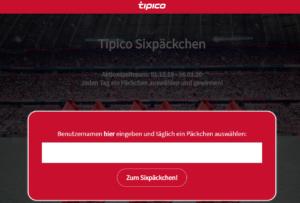 Tipico Sixpäckchen Benutzername